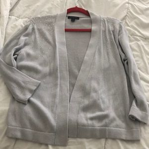 Banana RepLight grey cardigan with silver accents